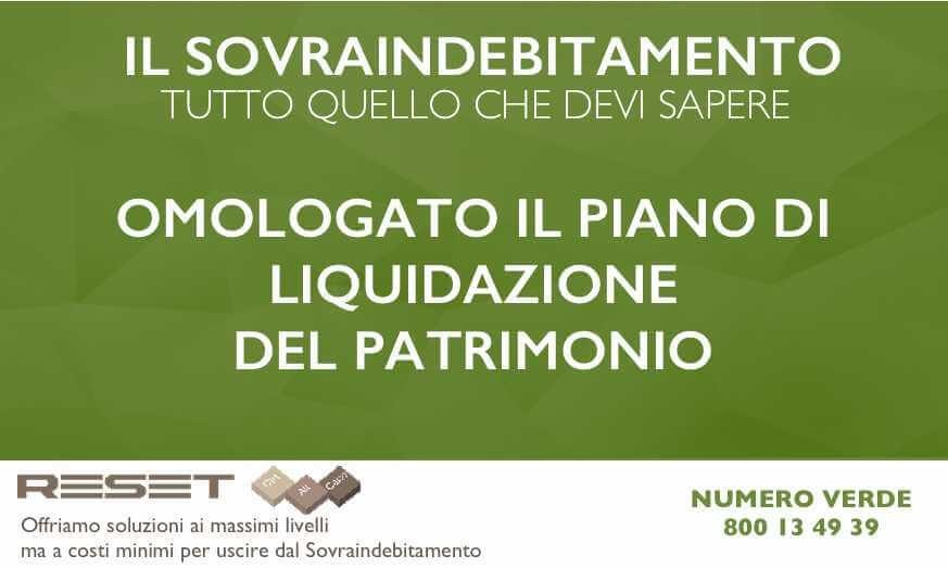 Il Piano di Liquidazione del Patrimonio omologato dal Tribunale di Reggio Emilia