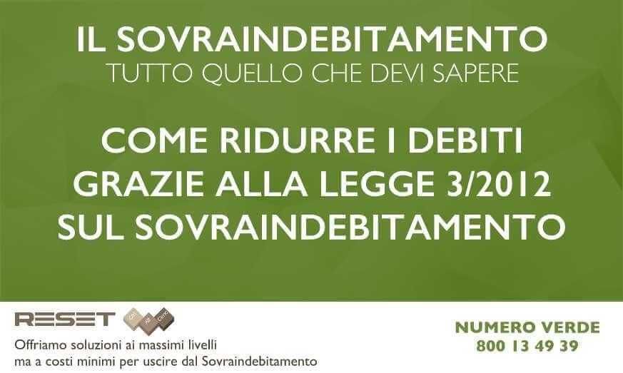 Ridurre i debiti grazie alla Legge 3/2012 sul Sovraindebitamento