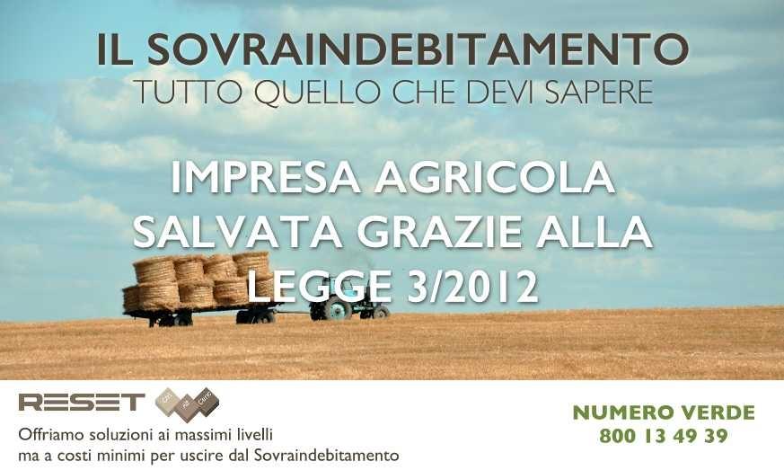 Impresa agricola salva grazie alla Legge n.3/2012 sul Sovraindebitamento