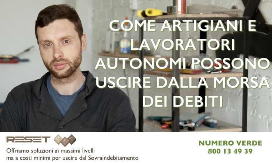 Come artigiani e lavoratori autonomi possono uscire dai debiti